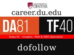 Publish a post on career.du.edu - DA81, TF40