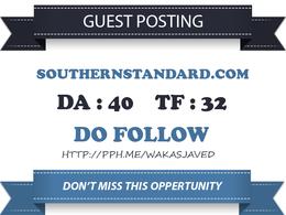 Publish Do Follow Guest Post on Southernstandard.com DA 40 TF 32
