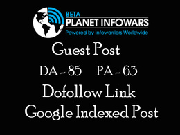 Publish guest post on Planet Infowars with dofollow link DA 85