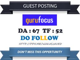 Guest post on Finance website Gurufocus.com DA 67 Dofollow Link