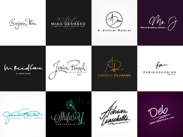 Design signature, calligraphy or initials logo