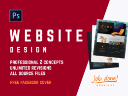Design a 1 Page Website Mockup in Photoshop