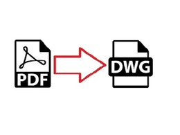 Convert a PDF page into a DWG format AutoCAD file (or DXF file)