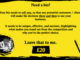 Write a professional business bio for you or your company