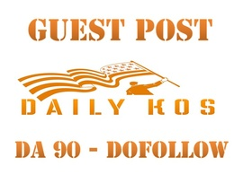 Guest post in Dailykos  DA88 Dofollow Indexed