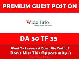 Publish Guest Post on Wideinfo.org - Dofollow DA 50