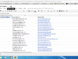 Do data scrapping research online to find 100 email addresses