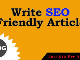 Write one SEO optimized 500 word blog/Article with SEO keywords