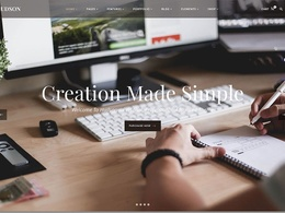 Make a website in worpress