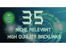 Create 35 Niche Relevant High Quality Backlinks to Increase SEO
