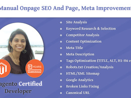 Manual Onpage SEO and Page, Meta, HTML Tag Improvement