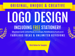 Logo Designs + Stationery + Source Files + Fonts + Favicon