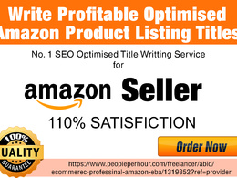 Write three Profitable Optimised Amazon Product Titles