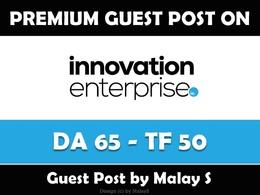Write & Publish Guest Post on Theinnovationenterprise.com - DA65