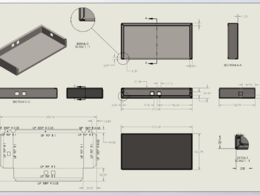 Design sheet metal part in Solidworks & make production drawing