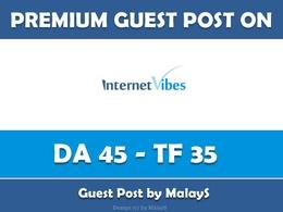 Write & Publish Guest Post on Internetvibes.net - DA 45