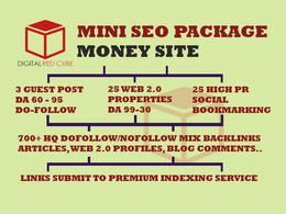 Do Mini SEO Backlinks Package - DA 99 - 30 | TF 80 - 20