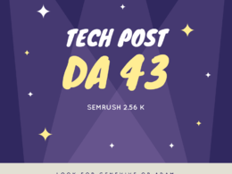 Do guest post on Tech Site DA 37 PA 43