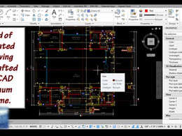 Draft 1 architectural 2D plan in AutoCAD with unlimited revision
