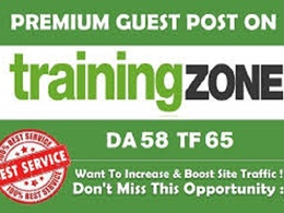 Publish a guest post on TrainingZone - TrainingZone.co.uk, DA 60
