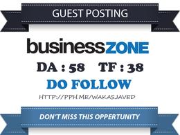 Write & publish guest post on BusinessZone.co.uk DA 58 Dofollow