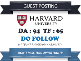 Write & Publish Guest Post on Harvard.edu DA 94 Dofollow link
