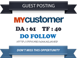 Publish guest post on Mycustomer.com DA 61, PA 65 Dofollow Link