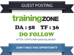 Publish a guest post on TrainingZone.co.uk (DA 70) Dofollow