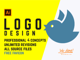 Design your Logo 4 concepts unlimited revisions + free favicon