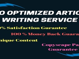 Hand written SEO focused article writing, blog, content writing