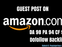 Get DOFOLLOW backlink / guest post on Amazon Amazon.com DA98