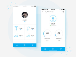 Design mobile app screen design
