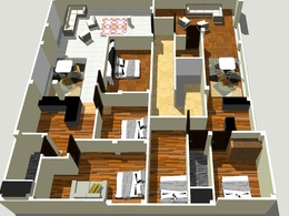Make a 3d floor plan by sketchup