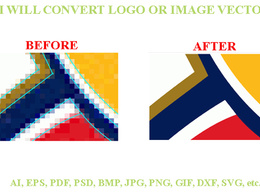 Convert to vectorise / redraw & trace your images