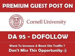 EDU guest post on Cornell University. Cornell.edu - DA 95