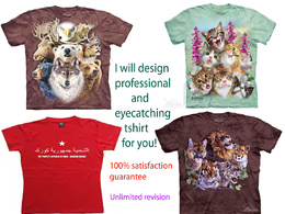 Design professional tshirt with unlimited revision in 24 hrs