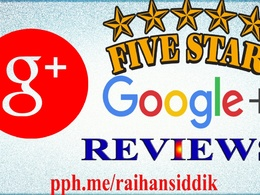 GET 5 Google Plus 5 Star Review to increase your Google rank