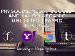 Drive 15 000+ social media, Google and Yahoo organic traffic