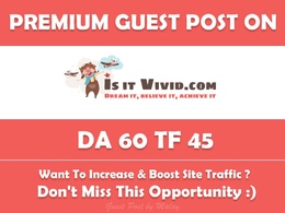 Write and Publish Guest Post on Isitvivid. Isitvivid.com - DA 60