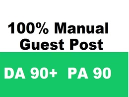 Guest post on 3 (PA 90+ & DA 90+) websites with dofollow links