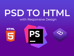 Convert PSD To HTML Responsive Using Bootstrap