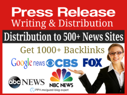 Press Release on Google News, Fox, CBS, NBC,ABC and 500+ Sites