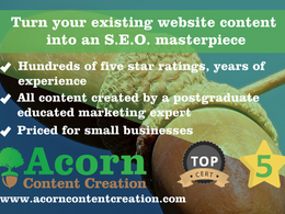 Turn your existing website content into an S.E.O. masterpiece