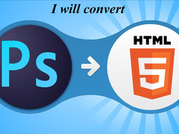 Design a landing page or convert PSD to HTML