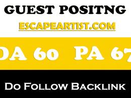 Publish guest post on escapeartist – escapeartist.com –  DA 60