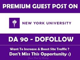 Guest post on New York University. nyu.edu - DA 90