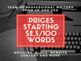 UK/US Content Writers for Blogs/Articles/Content Requirements