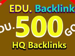 Do 500 edu, gov backlink for high pr link building Seo campaign