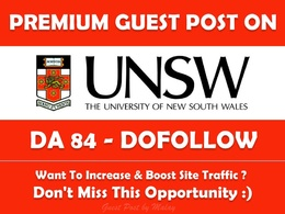 Guest post on University of New South Wales. unsw.edu.au - DA 84