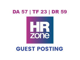 Publish a guest post on HRZone - DA57, TF23, DR59